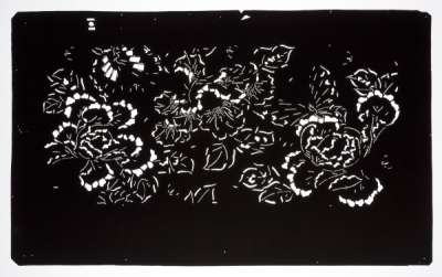'Botan' (Peony) and 'Chou' (Butterfly) second katagami stencil