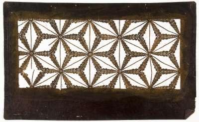 """Asa-no-ha"" (Overlapping hemp leaves) katagami stencil"