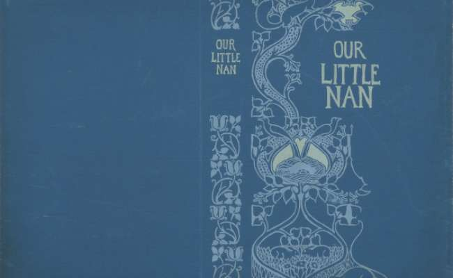 Trial design for a book cover for 'Our Little Nan', by Emma Leslie