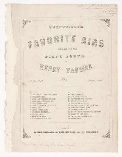 Twenty Four Favorite Airs