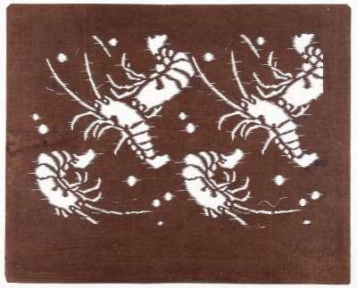 'Ebi' (Lobster) katagami stencil