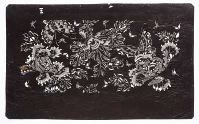 'Botan' (Peony) and 'Chou' (Butterfly) first katagami stencil