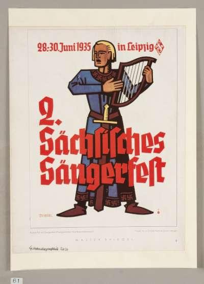 Poster for Choir Festival in Leipzig 1935