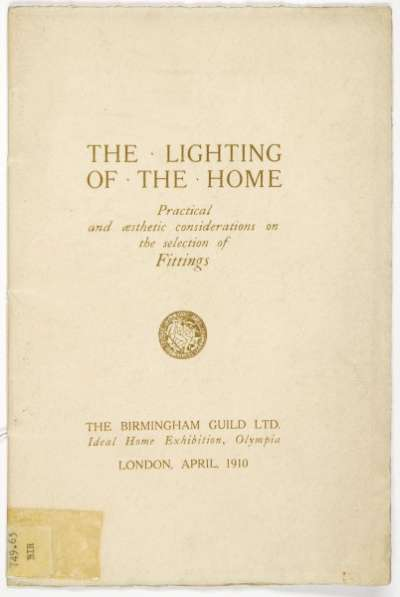 The lighting of the home/ practical and aesthetic considerations on the selection of fittings