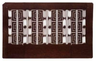 """Kawari Mimasu-tsunagi"" (Variation for three overlapped squares) pattern"