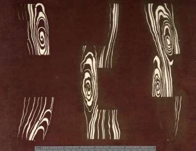 Kanzemizu (flowing spiral water) pattern stencil