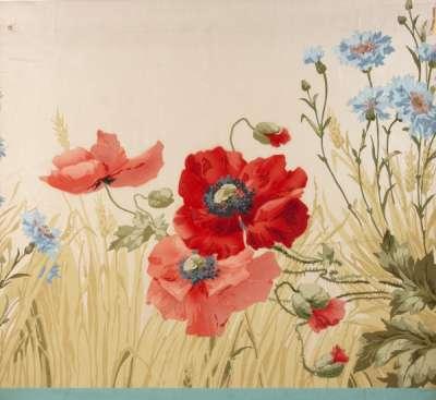 Poppies, wheat and cornflower