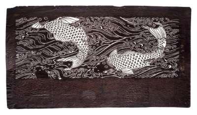 """Araiso"" (water climbing) (by Carp) pattern katagami stencil"