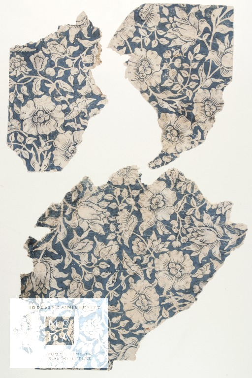 Wallpaper fragment, 'Mallow'designed by Kate Faulkener for William Morris  & Co