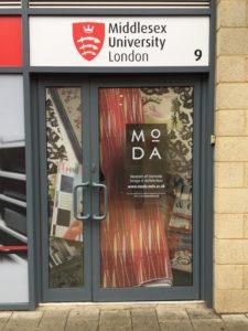 Moda's front door