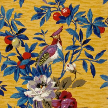 Chinoiserie tropical birds and foliage
