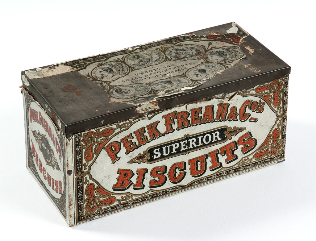 tin for peek frean and co superior biscuits