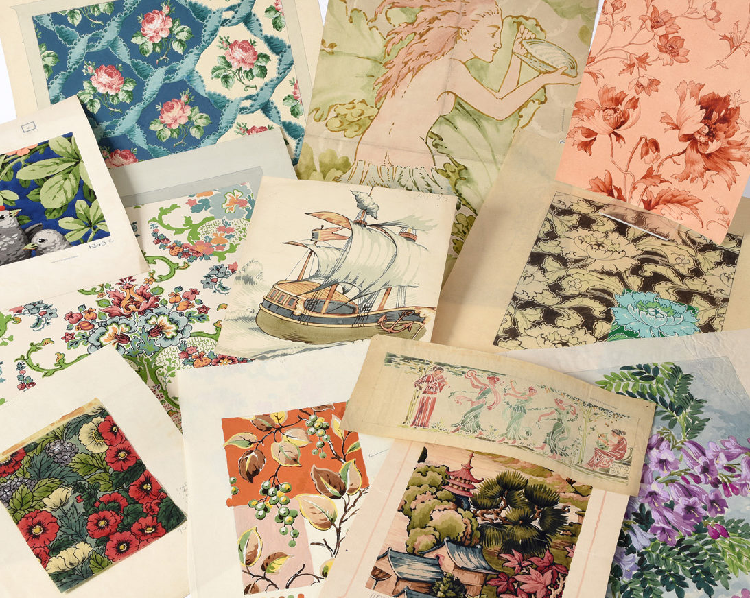 selection of designs for textiles and wallpaper