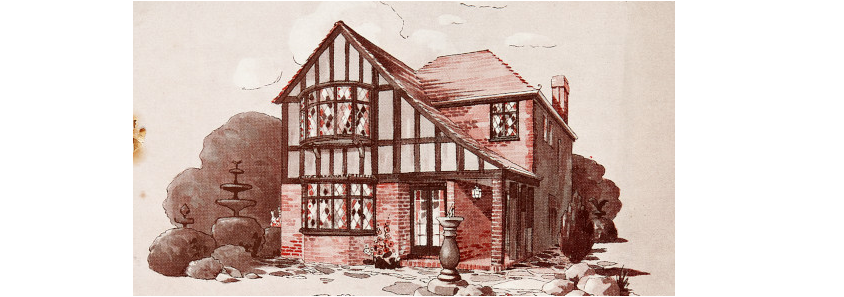 illustration of Tudorbethan brides home built by morell builders