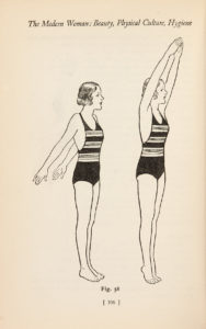 drawing of two girls in leotards one with arms stretched downwards the other with arms stretched upwards and standing on tip toes