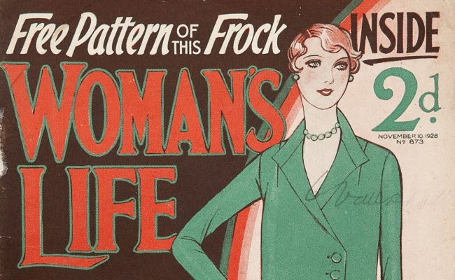 section of front cover of womans life magazine 1928
